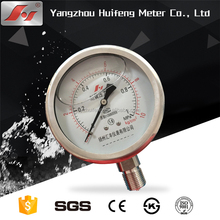 "4"" 100MM stainless steel 1MPA DIN Case style liquid filled pressure gauge"
