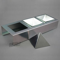Bakest 127-0024 Small 3-Cavity Pyramid Triangle Aluminum Moveable Baking Mould