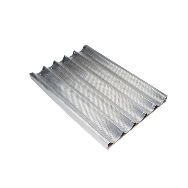 Multi function aluminum French baguette bread tray