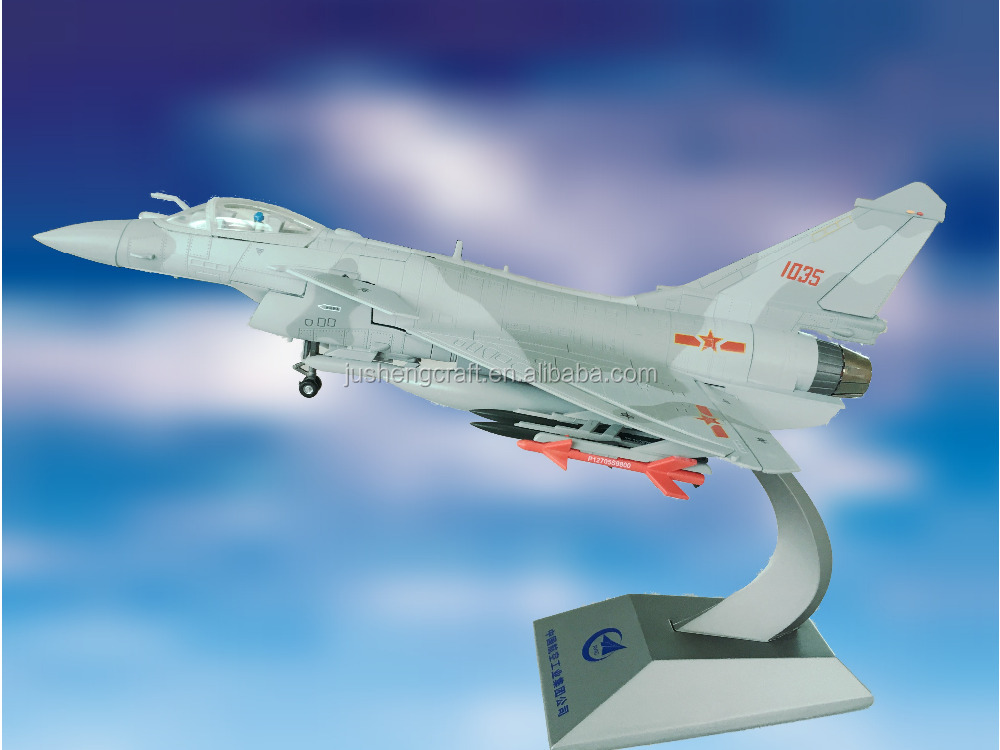 New Products Chinese Supplier Handmade Unique Gift Ideas DIY Diecast Fighter J-10B 1:48 Metal Art Craft