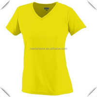 high quality custom made safety yellow sports V neck T Shirt for 2015 wholesale with extra large size XXXXL