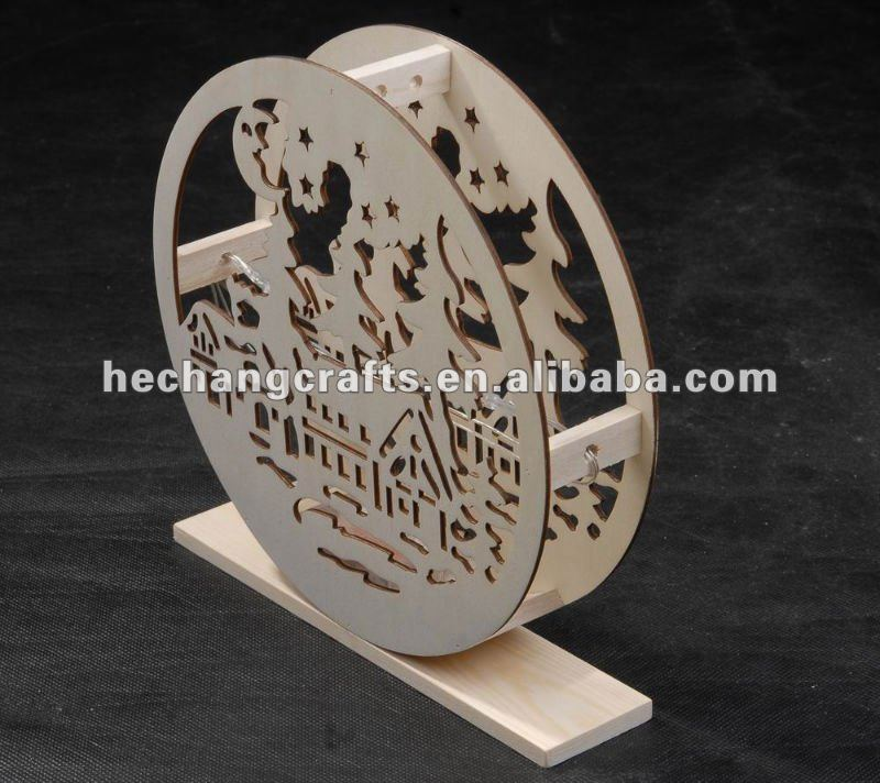 WOODEN DECORATIVE LIGHTING HANDICRAFT