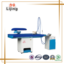Professional vacuum ironing table with steam iron