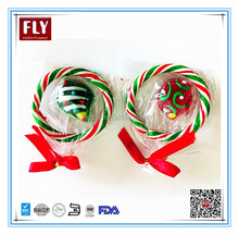 Colorful Hard Red and White Sweets Christmas Candy Cane