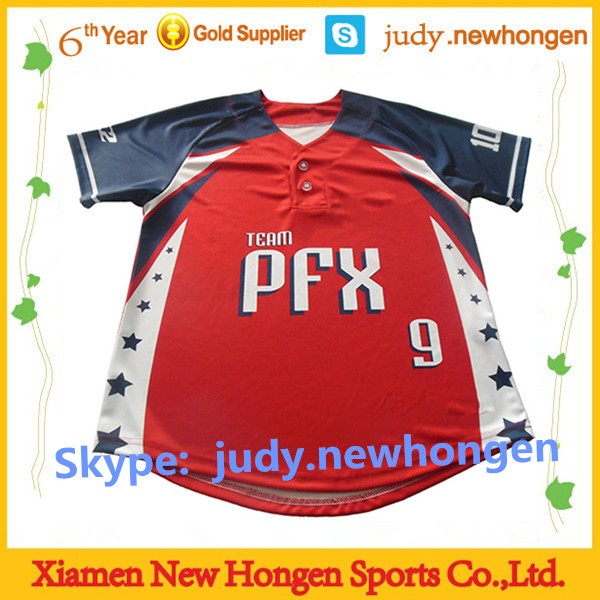 woman plain pink baseball jersey, full dye sublimation baseball jerseys