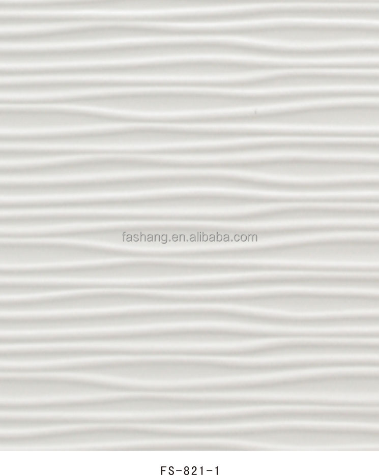 Embossed 3d effect FS-821-1 wallpaper white silver