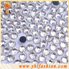Latest dress design clear korean hot fix rhinestones