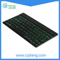 Hot Selling Ultra Slim Varying 7 Colors LED Light Mini Wireless Bluetooth Keyboard