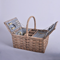 wood chip and willow outdoor wicker picnic basket picnic hamper Wholesale