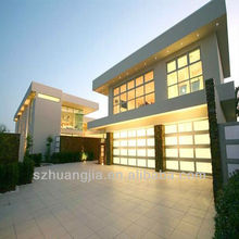 Villa Luxury Custom Size High Quality Fashionable Aluminum Frame Glass Panel Rolling Overhead Garage Door