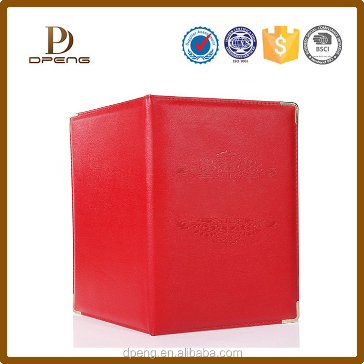 Alibaba wholesale oem leather cover file folder a3 size folders