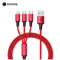 High Quality Durable Nylon Braided USB Charging Data Cable 1m 3ft Type C USB Charging Cable For Mobile Phone