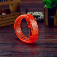 2016 free sample factroy price party red color sound activated led bracelet