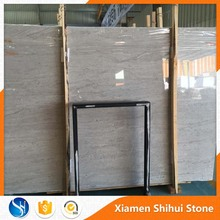 Chinese Cheap Polished Classic Cultured Grey Marble Slab tile with Dark Wave