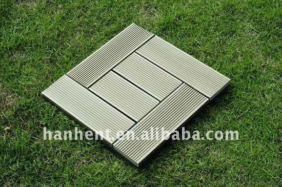 DIY WPC outdoor decking tile 310X310X22mm