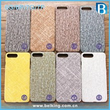 For iPhone 6 plus Linen Fabric Phone Case Plush Back Cover For iPhone 7 plus