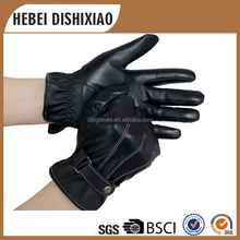 Manufacture Supply Hot Sales Cheap Fur Lined Leather Gloves For Men And Women