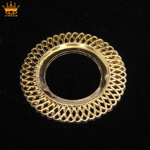 China supplier gold round bulk plastic frames decorative plastic mirror frames plastic window frame