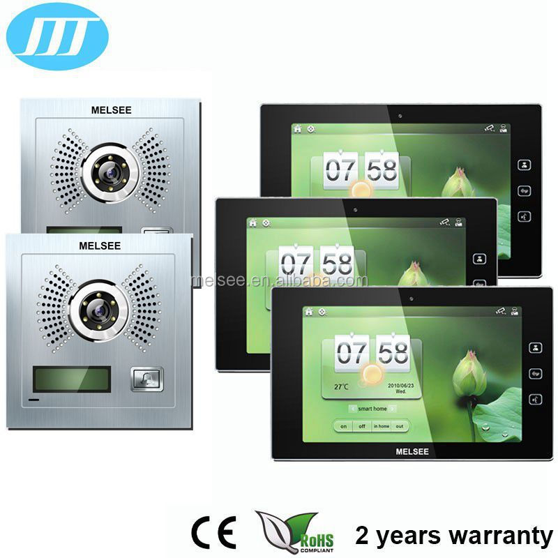 10 Inch wireless WIFI video intercom with 2 years warranty, wireless doorbell video intercom made in China famous manufacturer