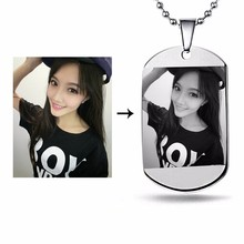 JiaHong custom brand logo metal 3d sexy girl dog tag with chain