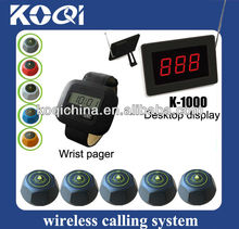 Cheap Numbers tables restaurant suits for meseros K-1000 K-300 K-M waiter call button
