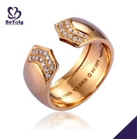 china manufacturer fashion gold rings and wedding bands