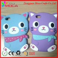 Custom cartoon cat high quality silicon cartoon phone case for promotion