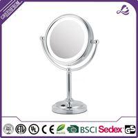 hair salon Tilt Head tri fold lighted makeup mirror