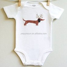 smocked deer cotton baby winter spring clothes Romper