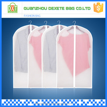 High quality cheap foldable white transparent garment bags for suits