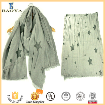 China Factory Premium Fashion Acrylic Pashmina Scarf Shawl