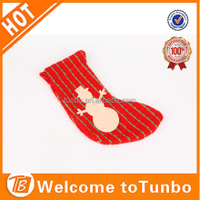 Christmas girls child tube sock red christmas sock with snowman