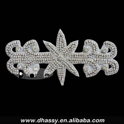 Vintage Style bling crystal appliques iron on crystal embellished applique DH-571