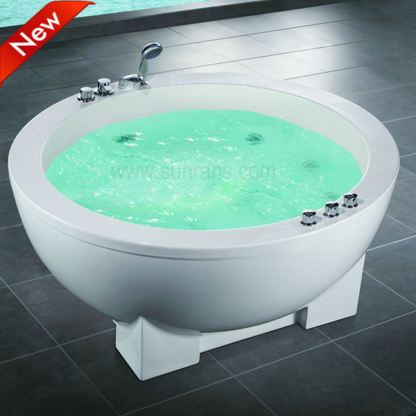 Chirstmas Big sale pearl oval round whirlpool massage bath tubs
