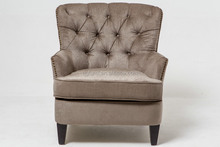 Brown fabric nailhead trim relax chair with high quality