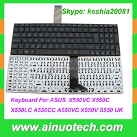 US PL FR GR TR SP RU IT UK AR Laptop Keyboard for ASUS X550VC X550C X550LC A550CC A550VC X550V S550 UK keyboard Englsih Layout