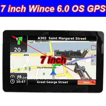 7'' black waterproof China factory Wholesale Digital 800*480 HD Wince 6.0 OS Car GPS