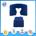 Toprank SGS Inspection Accepted PVC Folding U Shape Travel Neck Pillow Air Inflatable Pillow With Pouch