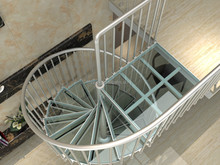Cheap aluminum prefabricated glass metal spiral/circle stairs price