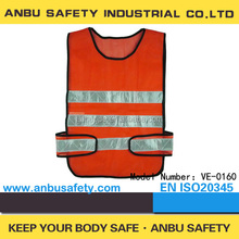 red polyester mesh safety vest/reflective safety vest motorcycle