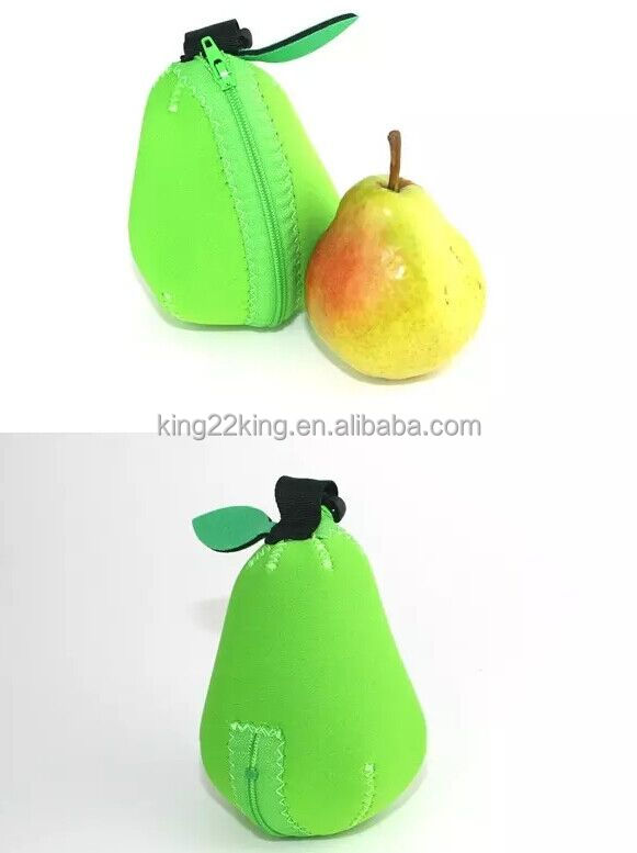 stand up zipper pear package pouch /good quality packing bag