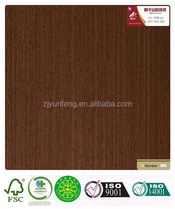 recon wooden door veneer with fleece wenge WB-3Q for flooring and laminate board