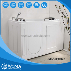 Q373 WOMA factory made acrylic walk in bathtub with door various hot tub mold for choice ETL/CUPC Certificate