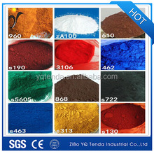 Red yellow black iron oxide pigment for ceramic