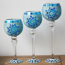 tall glass votive candle holders mosaic glass candle holders