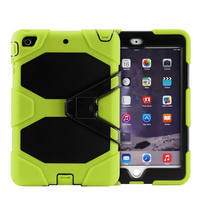 Brand new style Silicone +PC 3 in 1 hybrid case cover for ipad mini 4 with kickstand case for ipad mini 4