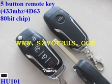 FOR FORD 5 button remote key (433mhz/4D63 80bit chip) For Mondeo, Focus and Fiesta before 2012