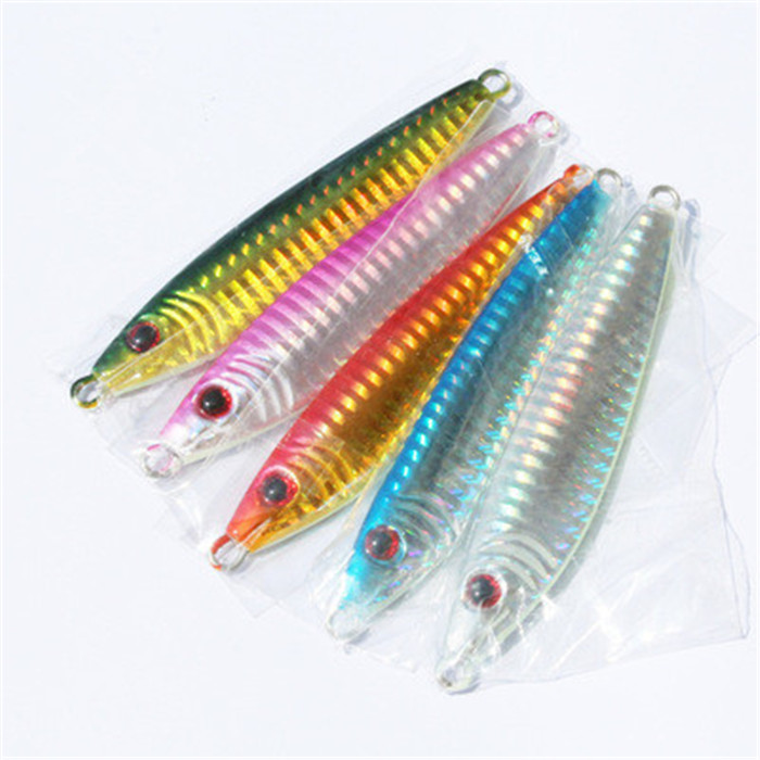 40g jigging lures lead vertical jig paillette knife for Cheap fishing spinners