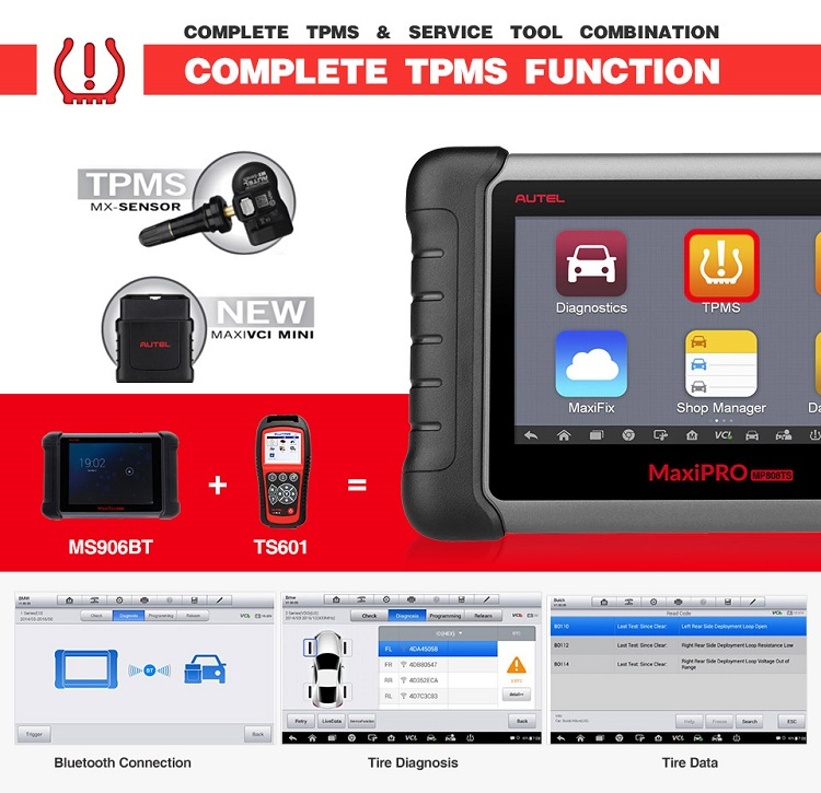 Autel MaxiPro MP808TS Full Japanese Car Diagnostic Scanner Complete TPMS service diagnostic tools
