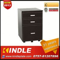 handy mobile 3 drawer cold rolled steel stationary cabinet